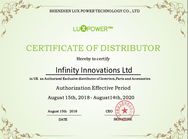 UK Eksklusibo Distributor-Infinity Innovations Ltd