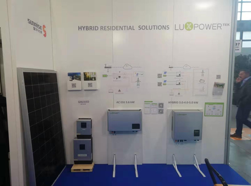 Luxpower inverter is showing in Italy show