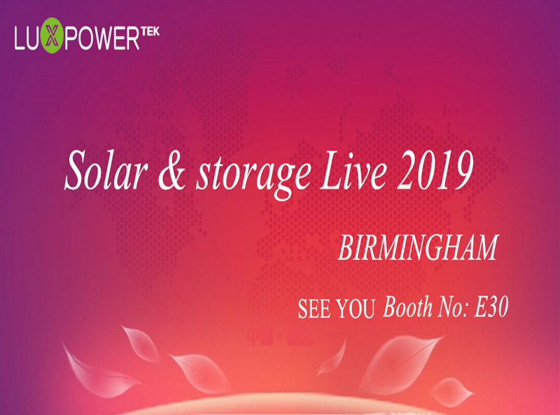 Lux Power will exhibit at the Solar & storage Live