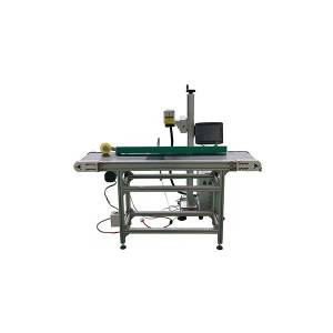 Without Computer work easy cooperation portable split fiber laser marking machine