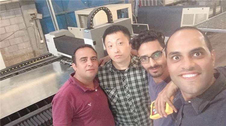 After sale service technician Tom go Kuwait for fiber laser cutting machine training