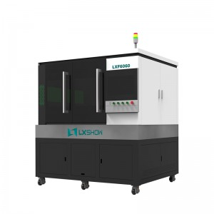 【LXF6060】High Precision mini small fiber laser cutting machine LXF6060 with linear motor ball screw transmission 500w 750w 1000w 1500w