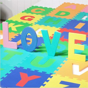 36-SQFT Giant Play Mat 9-tile Excise Mat Easy Setup Solid EVA Foam Mat Multi-color Interlocking Floor with 18-border