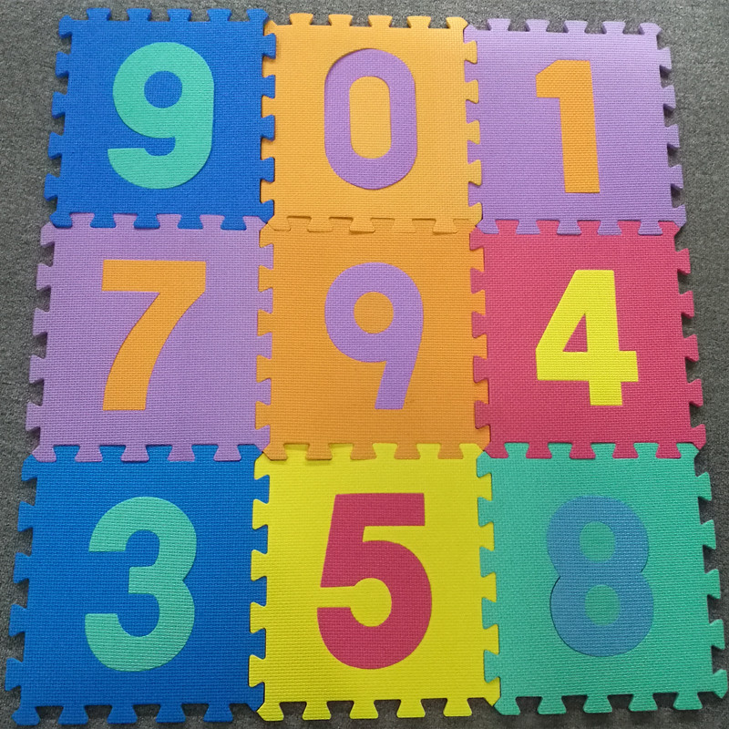 Numbers Puzzles Play Mat 10-tile Colorful EVA Foam Kids Floor