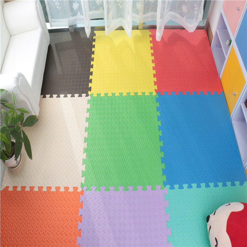 "EVA Foam Puzzle Mat EVA putu Interlocking Floor Mats 9 nosaukumi Exercise Mat, 12 ""līdz 12"""