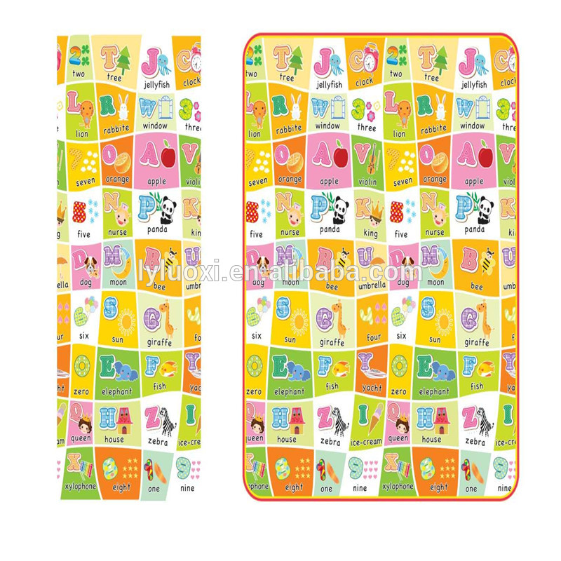 Multifunctional Foldable XPE rubber baby play mat, baby non-toxic play mat