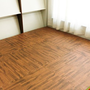 Wood Grain Floor MT 3/8 Inch Mātotoru Foam haumitanga Flooring Tiles ki Taitapa ia Measures Tile 1 Square Foot Home Offi