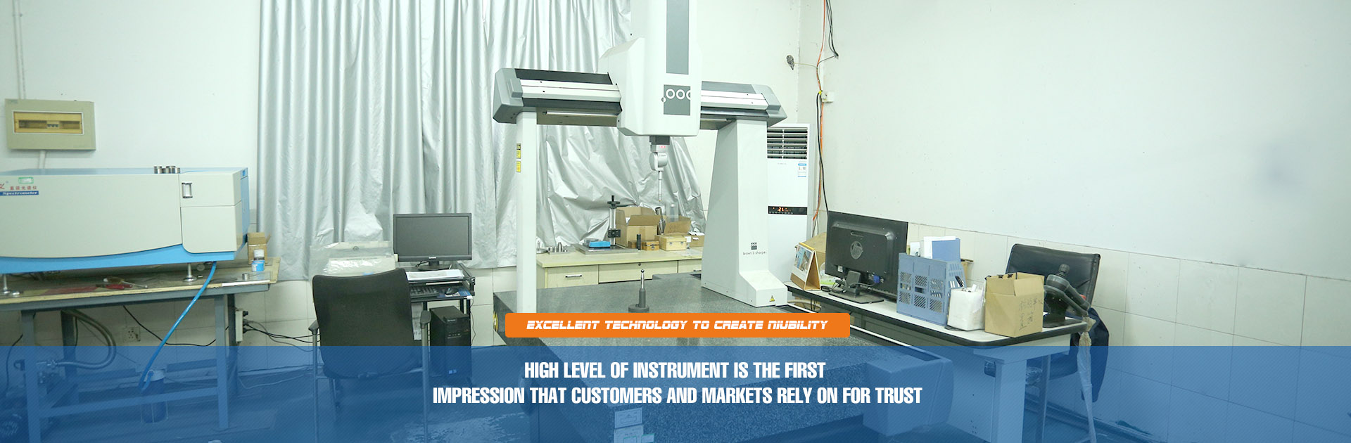 High level of INSTRUMENT is the first impression that customers and markets rely on for trust