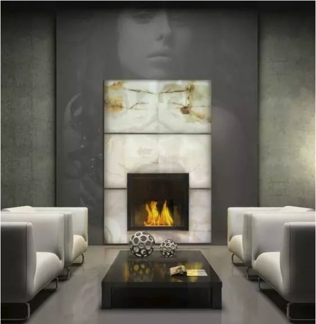 Fireplace or Background Wall?This Kind of Marble Is So Beautiful.