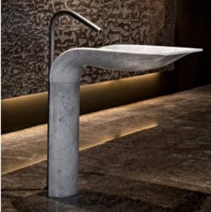 Marble pedestal stand bathroom washing sink