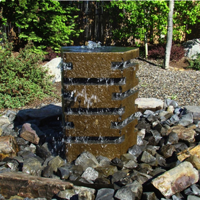Polished flat top – basalt water fountain Featured Image
