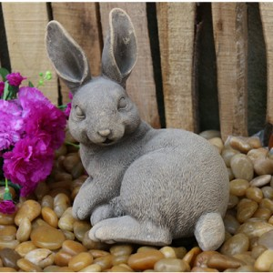 Hand carved rabbit sculpture for home decor