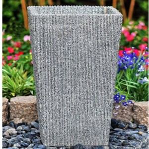 Custom granite modern Chinese flower pots for outdoor decor