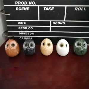 Factory selling Spa Hot Rocks Massage Stones - Wholesale small realistic owl stone figurines souvenirs for decor – Magic Stone