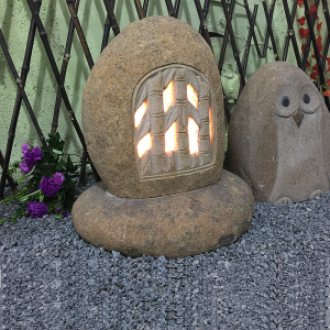 Natural cobble stone lantern wholesale