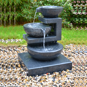 Outside granite  tier water fountain bowls for sale