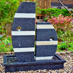 Large outdoor stone boat shape water fountains for sale