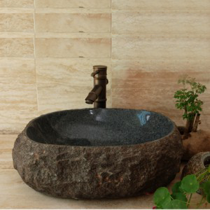 Granite solid surface stone sink for bathroom decor