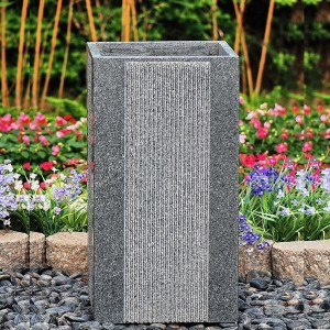 Decorative granite stone flower pots and planters