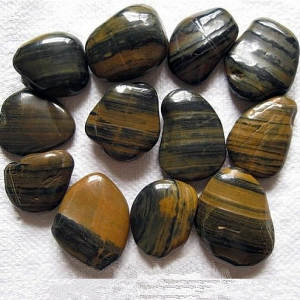 High Polished Striped Pebble Stone, 2-4cm / 3-5cm / 5-8cm
