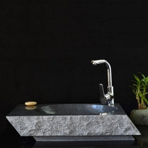Round granite stone bathroom sink