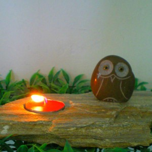 Chinese stone owl cheap small candle holder carving for sale