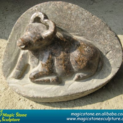 One of Hottest for Basalt Bench - Fujian stone carving cow statue figurine – Magic Stone