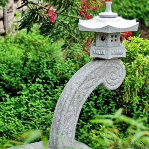 Cheapest Price Salt Lamp - Granite stone lantern for outdoor decor – Magic Stone