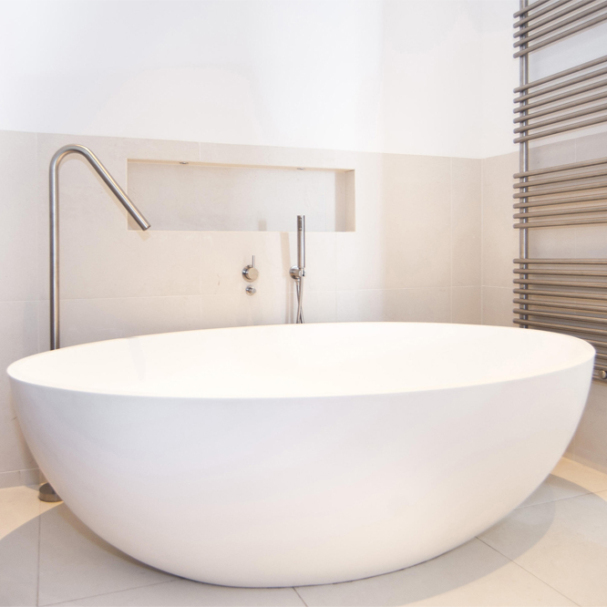 White Marble Stone Freestanding Bathtub for Bathtub Usage Featured Image