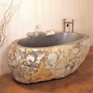 Bottom price Massage Roller Bar - Bathroom decoration carved marble stone bathtub – Magic Stone