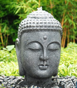 Wholesale black buddha head statue decor