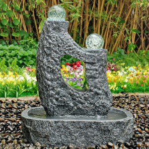 Outdoor granite decorative garden crystal fountains design for sale
