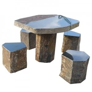 Hot New Products Stone Basin - Basalt table and chair set – Magic Stone