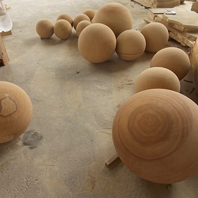 Factory Free sample Hot Stone - Ball shape landscaping sandstone for garden decor – Magic Stone