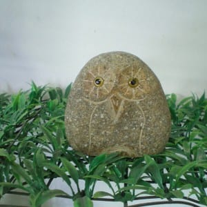 Super Lowest Price Marble Pillar - Xiamen Supplier Cheap Hand Carved Cobble Stone Miniature Owl Figurine – Magic Stone