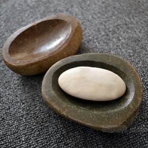 Natural cobble stone soap dish stone for sale