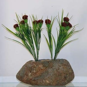 Ornament natural stone flower pot