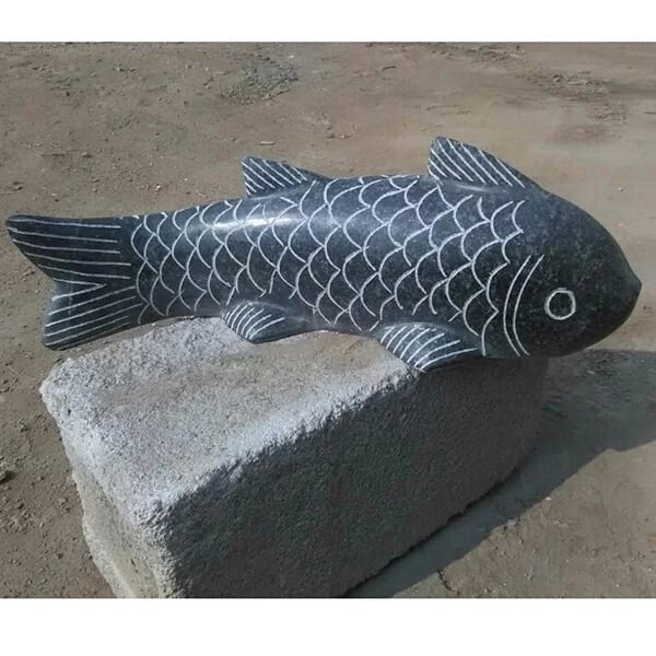 Factory Price For White Marble Buddha Statues - Granite garden fish stone carving – Magic Stone