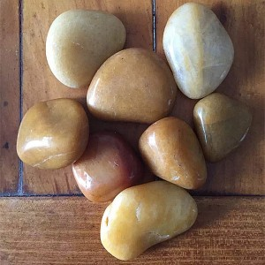 Yellow Polish Pebble Stone, 1-2cm / 2-4cm / 3-5cm / 5-8cm