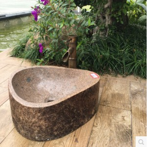 Natural stone vanity bathroom sinks