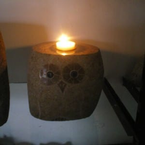 Factory Promotional Landscaping Pebbles - Wholesale stone owl  animal  candle holder – Magic Stone