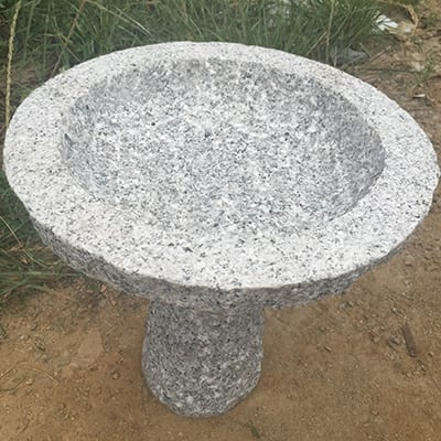 OEM/ODM China Lion Statue - Round granite stone birdbath – Magic Stone