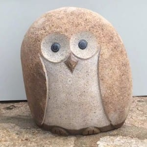 High Quality Stone Bathtub - Decorative cobble stone owls carving statues – Magic Stone
