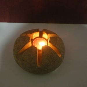 Wholesale Granite Fountain - Natural stone tea light magic lantern candle holder insert – Magic Stone