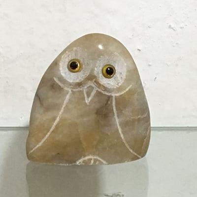 Super Lowest Price Marble Pillar - Wholesale christmas horned owl ornaments stone carving – Magic Stone