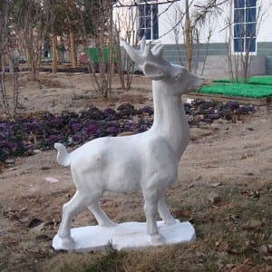 Fast delivery Roller Stick - Life size deer stone garden statue – Magic Stone