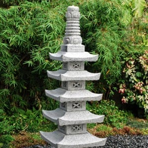 OEM/ODM Factory Waterfall Ornaments - Japanese garden statue pagoda lanterns – Magic Stone