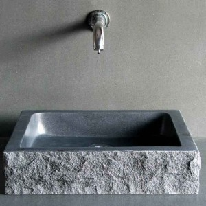 Rectangle shape granite bathroom sink