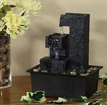 Decorative indoor tabletop water fountain