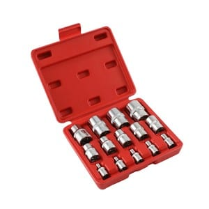 "Customized Logo 14pcs Car Repair Tools 1/4"" 1/2"" 3/8"" Drive CR-V E Torx Socket Set"